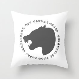 Sic Parvas Magna Throw Pillow