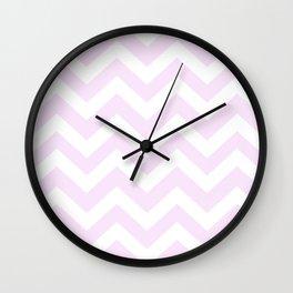 Pale purple (Pantone) - pink color - Zigzag Chevron Pattern Wall Clock