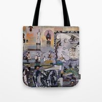 theater Tote Bags featuring Theater by NouriHeba