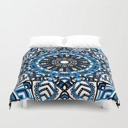 Blue mandala flowers Duvet Cover