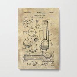 Ice Cream Scoop Blueprint Industrial Farmhouse Metal Print