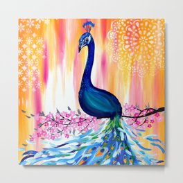 "Peacock , ("" Dance with Destiny "") Metal Print"