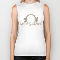 mcfly Biker Tanks featuring McFly & Brown Blacksmiths by Doodle Dojo