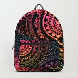 Neon Carousel Pink Yellow Green Blue Backpack