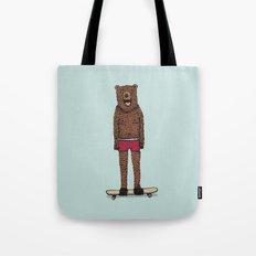 Bear + Skateboard Tote Bag