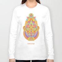 chakra Long Sleeve T-shirts featuring Sahasrara Chakra by anabra