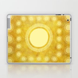 """Gold & Yellow Ethnic Sun Mandala"" Laptop & iPad Skin"