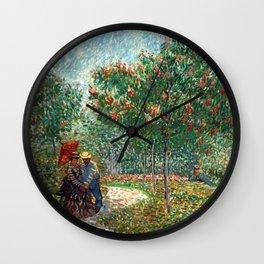 Vincent van Gogh - Couples in the Voyer d'Argenson Park at Asnières Wall Clock
