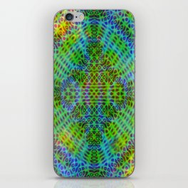 Colorful diffraction iPhone Skin