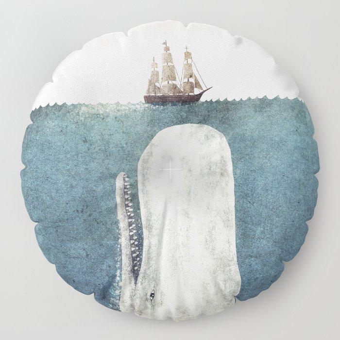 The Whale - vintage Floor Pillow