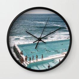 Pool and Ocean Wall Clock