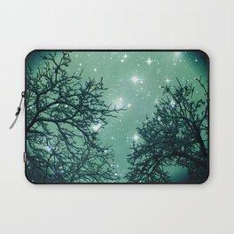Aqua Skies N Stars Through The Trees Laptop Sleeve