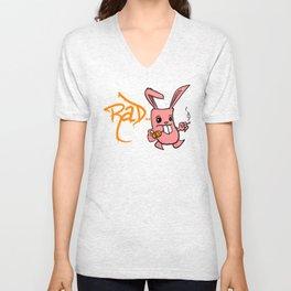 Rad Bunny Unisex V-Neck