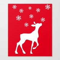 fawn Canvas Prints featuring fawn by Li-Bro