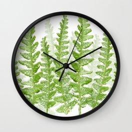 Green Fern Group Wall Clock