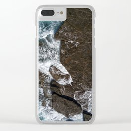 Find me by the waters edge Clear iPhone Case