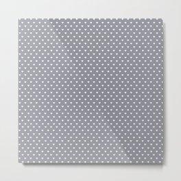 Mini Hearts on Grey Metal Print