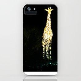 Christmas At The Living Desert Zoo - Giraffe Family iPhone Case