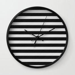 Sleepy Black and White Stripes Wall Clock