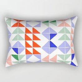 Color Triangles Rectangular Pillow