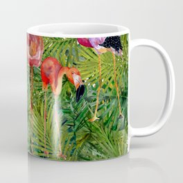 Aloha- Flamingo Bird Jungle Coffee Mug