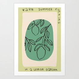 WARM SUMMER EVENING IN A LEMON GARDEN Art Print
