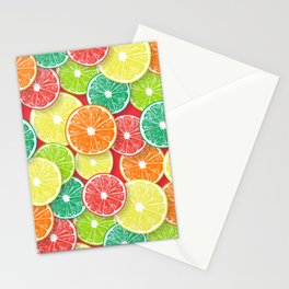 Citrus fruit slices pop art 2 Stationery Cards