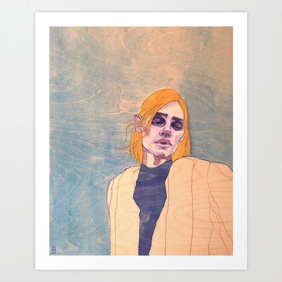 Portrait on Pine Art Print