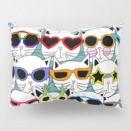 Sunglasses Cats Travel Pillow Sham