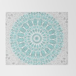 A Glittering Mandala Throw Blanket