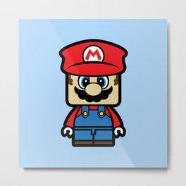 Super Chibi Mario Metal Print