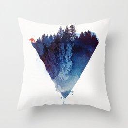 Near to the edge Throw Pillow