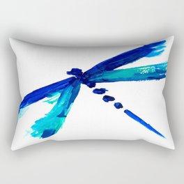 LIBÉLULA AZUL by Maricela del Rio Rectangular Pillow