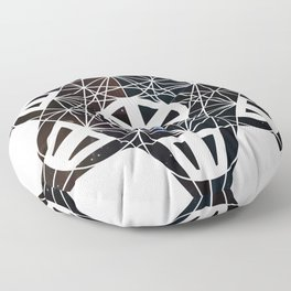Metatron's Cube Time Wheel ~ Starry Night Floor Pillow