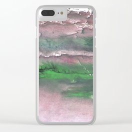 Purple green cloud Clear iPhone Case