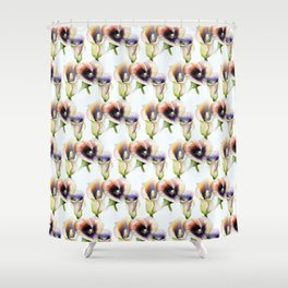 Sublime Bouquet Arum Calla Lilies in Watercolor Shower Curtain