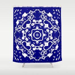 CA Fantasy Deep Blue-White series #8 Shower Curtain