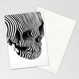 Skull Lines Tattoo Stationery Cards