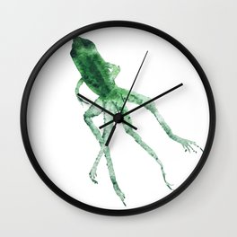 Study of a frog #01 Wall Clock