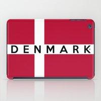 denmark iPad Cases featuring Denmark country flag name text by tony tudor