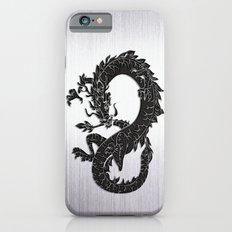 Black Oriental Dragon on Silver iPhone 6s Slim Case