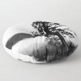 Black and White Tree Floor Pillow