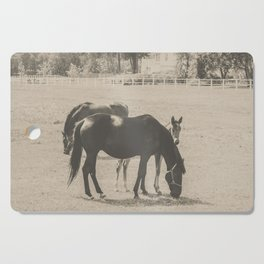 Horses and Foal Cutting Board