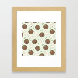 Cute Cookies and Milk for you! Framed Art Print