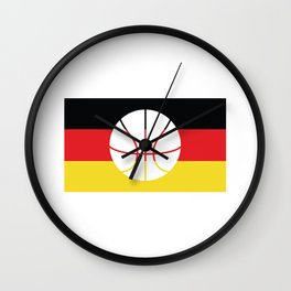 Germany Flag Soccer design Wall Clock