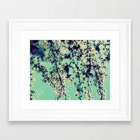 indigo Framed Art Prints featuring Indigo by Monica Ortel ❖