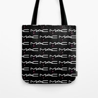 mac Tote Bags featuring MAC by I Love Decor