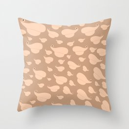Lips with flower moles Throw Pillow