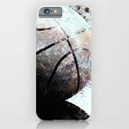 Basketball wall art print swoosh -119 basketball picture iPhone Case