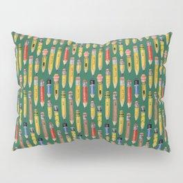Little Pencils Green Pillow Sham